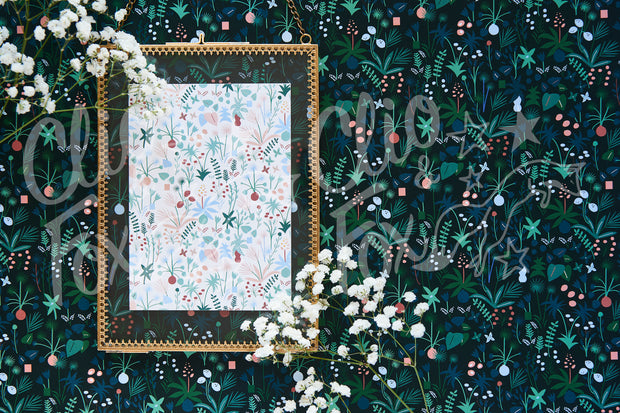 Pastel Garden With Gold Frame & Flowers -CFxMJ Designer Collection