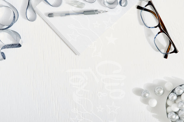 Silver Note Pad + Glasses