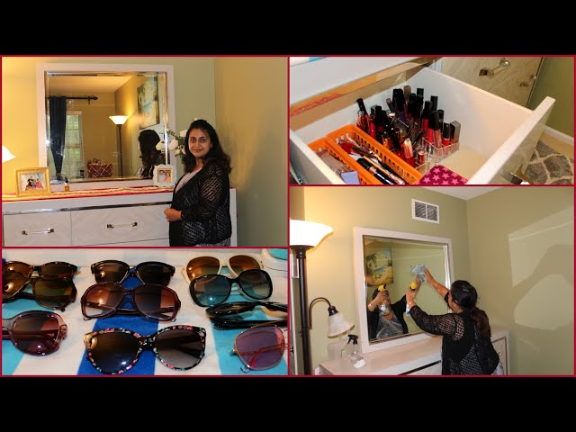 My Dresser Organizing & Cleaning Ideas | Sharing My Makeup & Sunglass Collection | Dresser Organization | Indian Vlogger | Makeup Collection | Sunglass ...