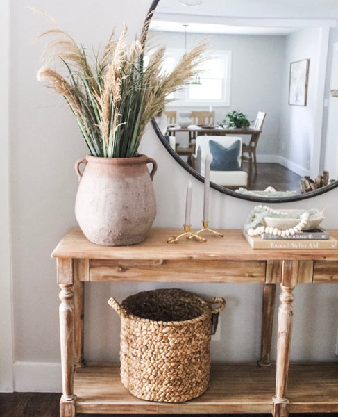 A pretty basket can be a great storage option for your home