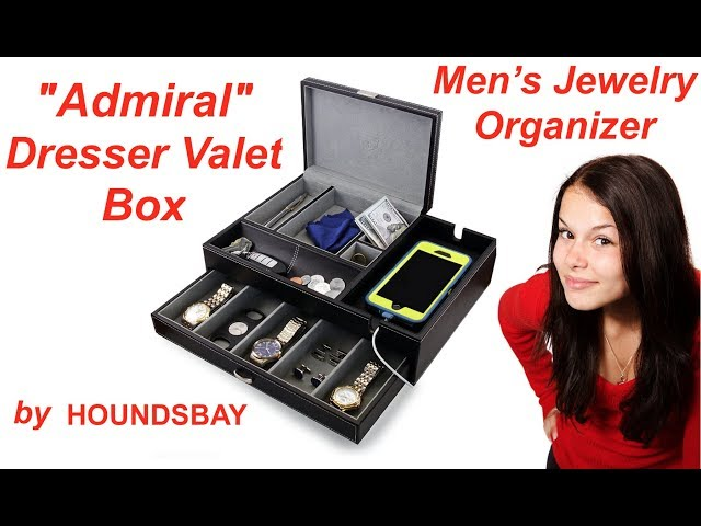 Ladies! GET YOUR MAN ORGANIZED with this great Dresser Valet Box to put in a closet, on a dresser or nightstand