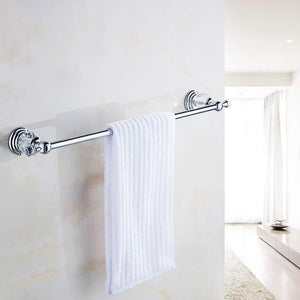 Try be xn crysta towel bar holder wall mounted bathroom accessories copper chrome finished towel rack silvery 120cm47inch