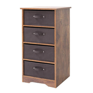 Iwell Wooden Dresser Storage Tower with Removable 4-Drawer Chest, Storage Organizer, Dresser for Small Rooms, Living Room, Bedroom, Closet, Hallway, Rustic Brown SNG004F