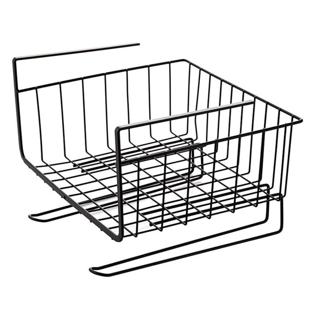 Home aiyoo heavy duty under shelf basket with paper towel holder for pantry cabinet closet wire rack storage basket wardrobe office desk space save bathroom kitchen organizer baskets for extra storage