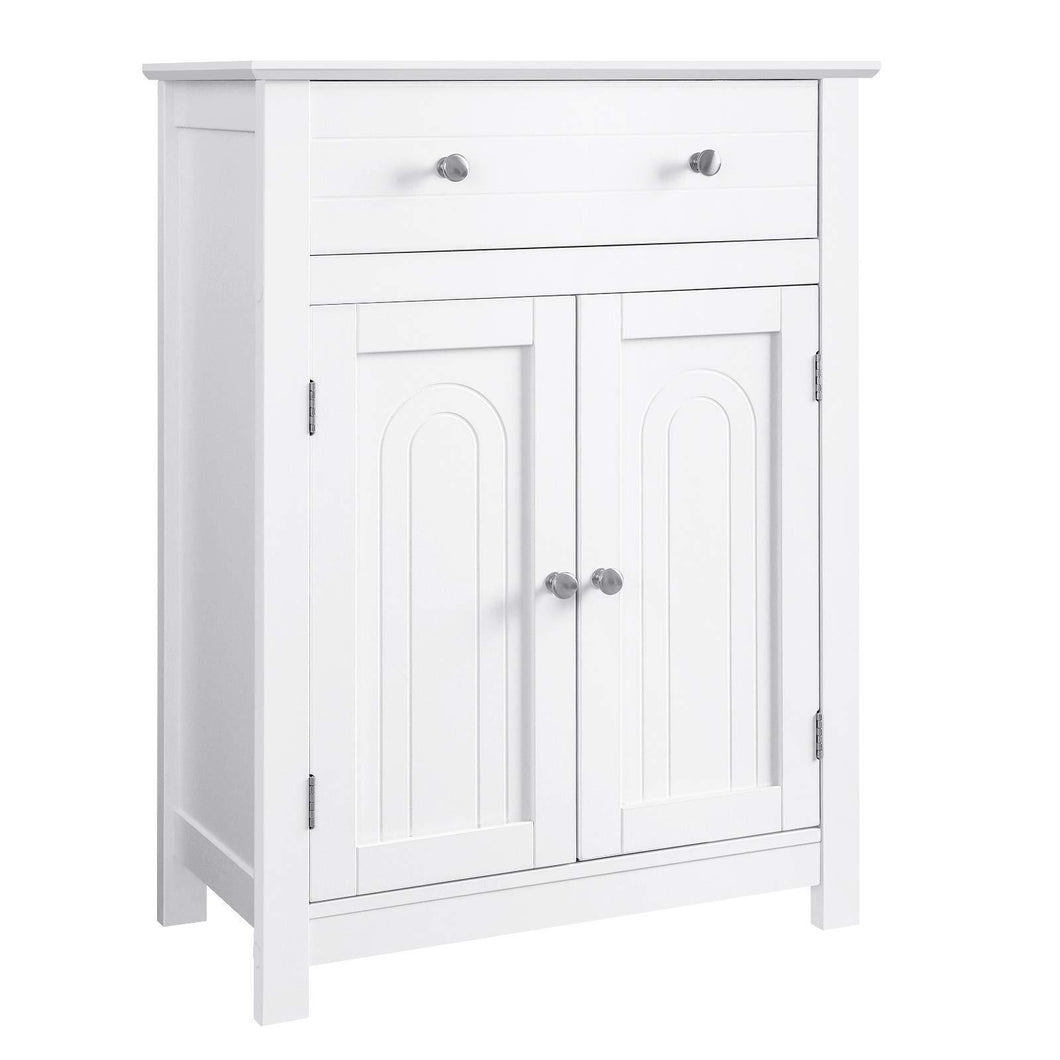 The best vasagle free standing bathroom cabinet with drawer and adjustable shelf kitchen cupboard wooden entryway storage cabinet white 23 6 x 11 8 x 31 5 inches ubbc61wt