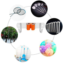 Load image into Gallery viewer, Results vodolo mop broom holder wall mount garden tool organizer stainless steel duty organizer for kitchen bathroom closet garage office laundry screw or adhesive installation orange