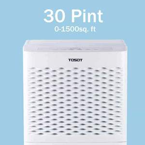 Latest tosot 30 pint dehumidifier for small rooms up to 1500 square feet energy star quiet portable with wheels and continuous drain hose outlet dehumidifiers for home basement bedroom bathroom