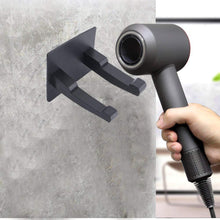 Load image into Gallery viewer, Home hair dryer holder for dyson supersonic hair dryer waterproof bathroom wall mount storage organizer rack hanger holder stainless steel power plug holder with 3m self adhesive hooks