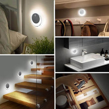 Load image into Gallery viewer, Discover okeanu motion sensor light 14 led cordless rechargeable night light portable closet lights for hallway basement garage bathroom cabinet stair 3 pack white