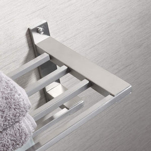 Heavy duty kes sus304 stainless steel 22 hotel towel rack bathroom shelf shower towel bar rust proof wall mount contemporary style space saving for multi hand towels brushed finish a2410s60 2