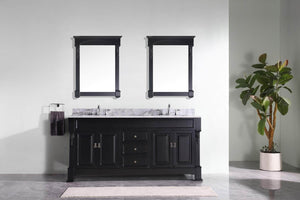 Latest virtu usa gd 4072 wmsq dw huntshire 72 double bathroom vanity with marble top and square sink with mirrors 72 inches dark walnut