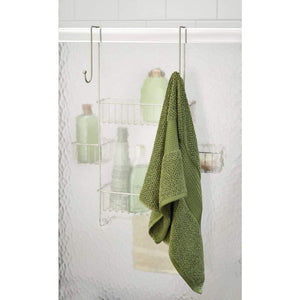 Great idesign metalo bathroom over the door shower caddy with swivel storage baskets for shampoo conditioner soap 22 7 x 10 5 x 8 2 satin