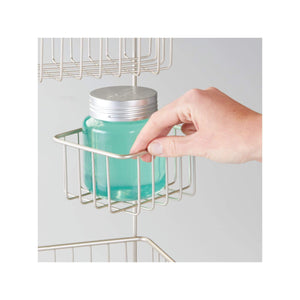 Featured idesign metalo bathroom over the door shower caddy with swivel storage baskets for shampoo conditioner soap 22 7 x 10 5 x 8 2 satin