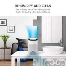Load image into Gallery viewer, Budget friendly tenergy sorbi 1000ml air dehumidifier w air purifying function true hepa filter auto shutoff touch control adjustable air speed ultra quiet allergies eliminator ideal for closets and bathrooms