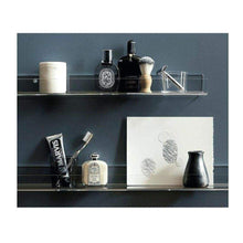 Load image into Gallery viewer, Buy clear heavy duty floating shelves pack 8 15 inches acrylic bathroom shelf shower caddy nail polish cosmetics makeup organizer kids room wall decor small bookshelf display extra strong