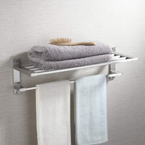 Latest kes sus304 stainless steel 22 hotel towel rack bathroom shelf shower towel bar rust proof wall mount contemporary style space saving for multi hand towels brushed finish a2410s60 2