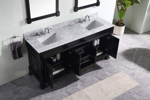 On amazon virtu usa gd 4072 wmsq dw huntshire 72 double bathroom vanity with marble top and square sink with mirrors 72 inches dark walnut