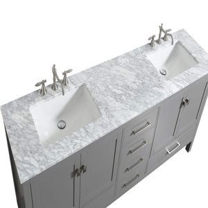 Save on eviva evvn412 72gr aberdeen 72 transitional grey bathroom vanity with white carrera countertop double square sinks combination