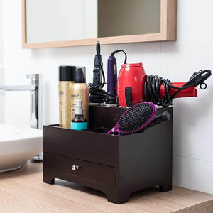 Save stock your home hair care organizer blow dryer holder hair styling station bathroom vanity countertop organizer for curling iron flat iron hair tools and beauty accessories
