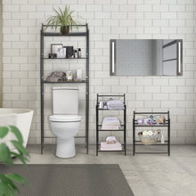 Load image into Gallery viewer, Budget friendly sorbus bathroom storage shelf over toilet space saver freestanding shelves for bath essentials planters books etc