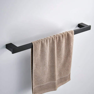 Budget koolift single towel bar rack bathroom towel hanger shower rail hand towel holder heavy duty kitchen space saving shelf hanging rod storage stainless steel matte black wall mount
