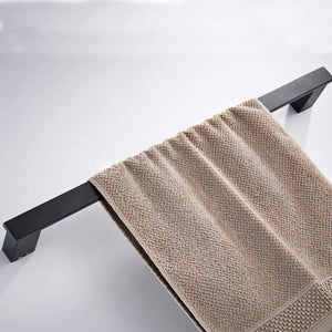 Best seller  koolift single towel bar rack bathroom towel hanger shower rail hand towel holder heavy duty kitchen space saving shelf hanging rod storage stainless steel matte black wall mount