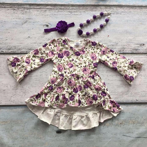 Purple Dress Set