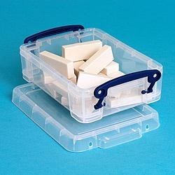 0.75L (litre) Really Useful Box - Clear - Storage 4 Crafts