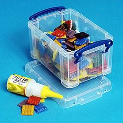 0.7L (litre) Really Useful Box - Clear - Storage 4 Crafts