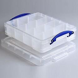 11L (litre) Really Useful Box - Clear - Storage 4 Crafts
