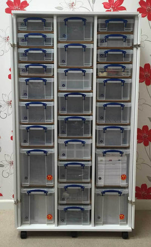 160cm Triple Craft/Sewing Cupboard-KIT D16 - Storage 4 Crafts