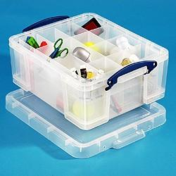 18L (litre) Really Useful Box - Clear