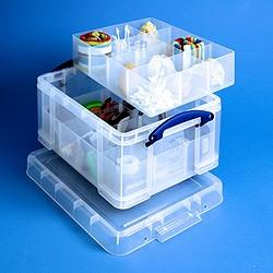 21L (litre) Really Useful Box - Clear - Storage 4 Crafts