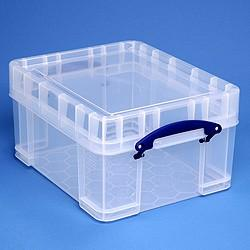 21L (litre)  XL Really Useful Box - Clear