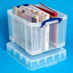 35 Litre XL Really Useful Box-Clear - Storage 4 Crafts