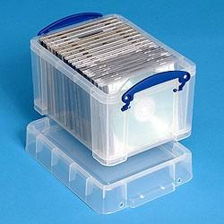 3L (litre) Really Useful Box - Clear - Storage 4 Crafts