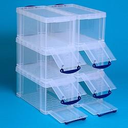 8L (litre) Really Useful Box - Clear - Storage 4 Crafts