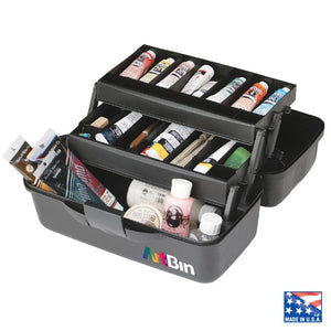 Essentials 2 Tray Box (Black) - Storage 4 Crafts