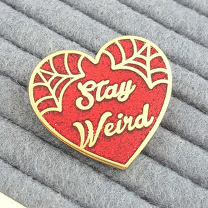 Stay Weird Pin - Red