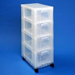 Storage Tower 4x12L Drawer - Storage 4 Crafts