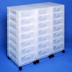 Storage Tower Triple 21x7L Drawer - Storage 4 Crafts