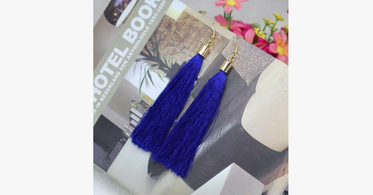 Long Fib Tassel  Earring