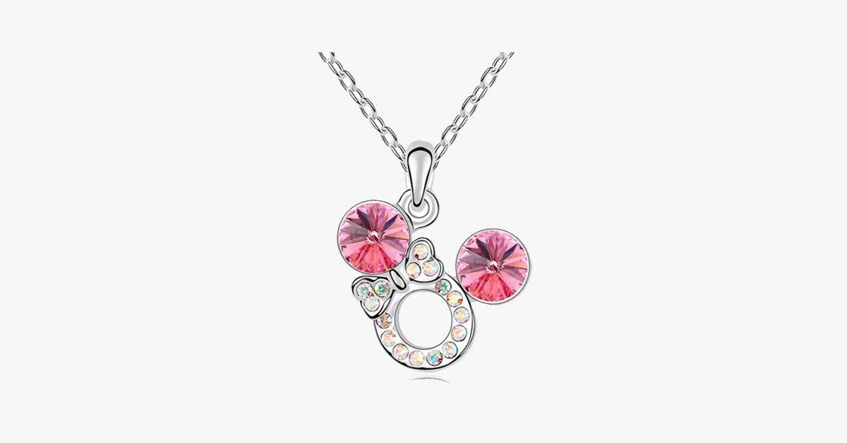 Florence Crystal Bow Necklace