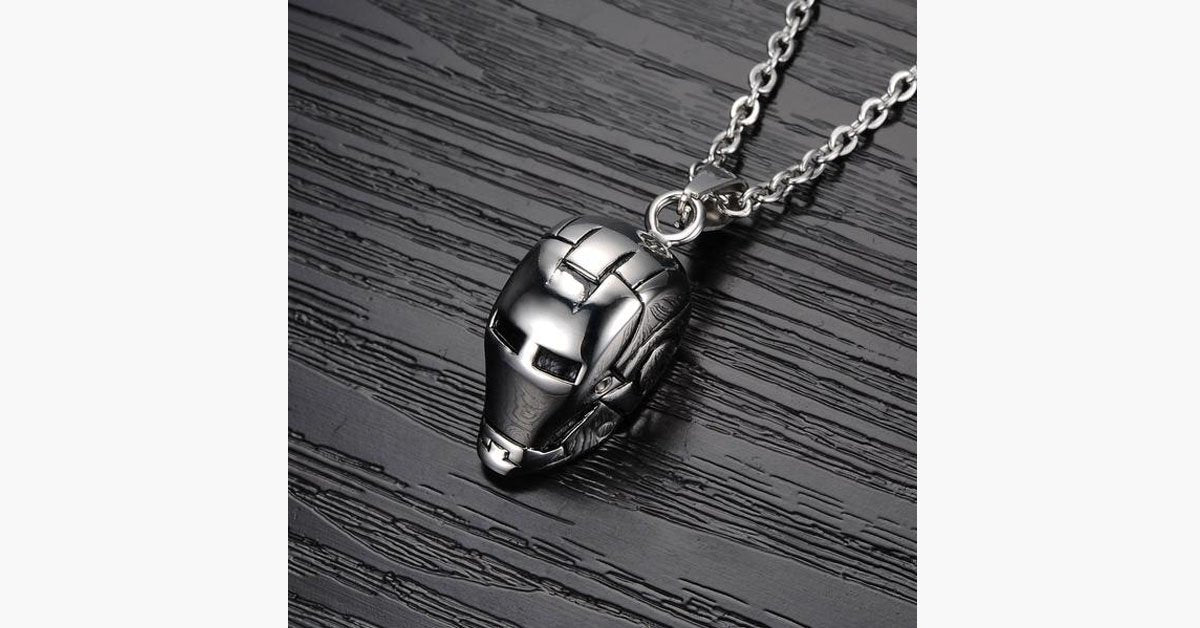 Iron Man Stainless Steel Pendant