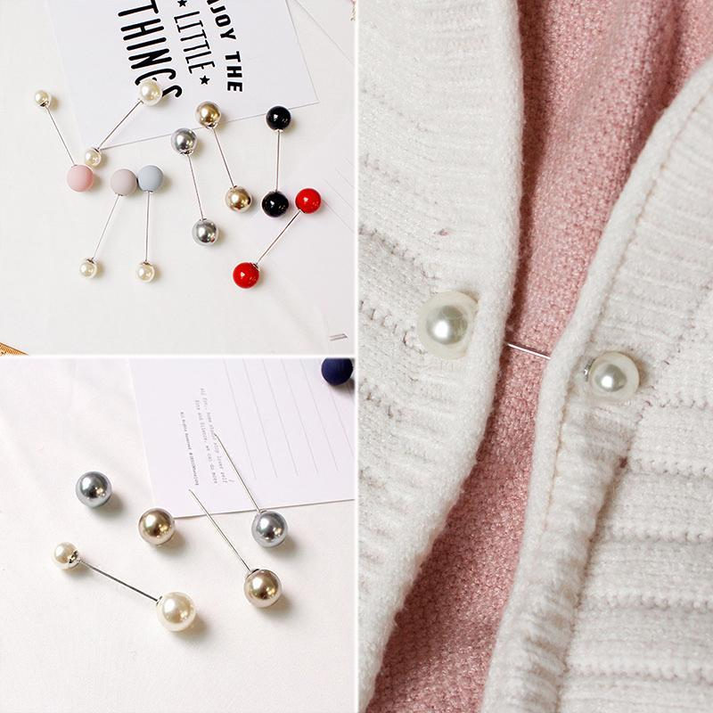 Imitation Double Pearl Brooches