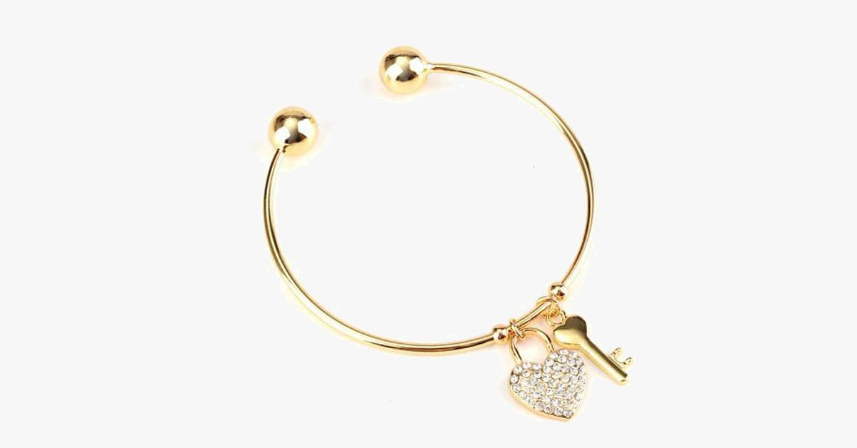 Key To The Heart Bangle