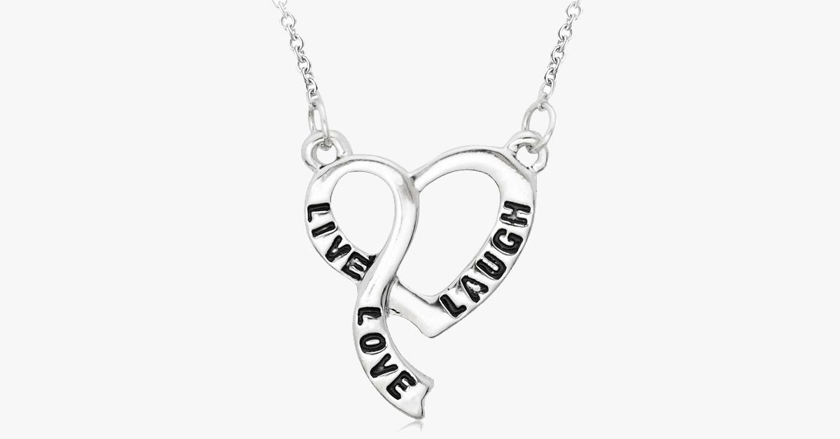 Live Love Laugh Heart Necklace