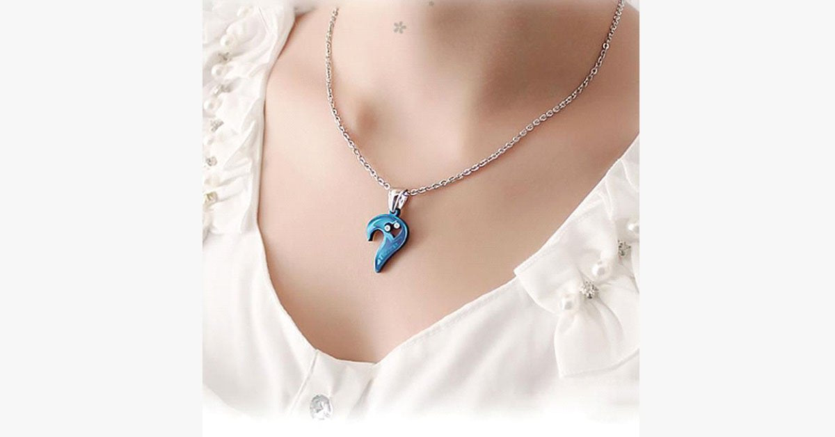 I Love You Mutual Affinity Heart Titanium Steel Lover Necklaces
