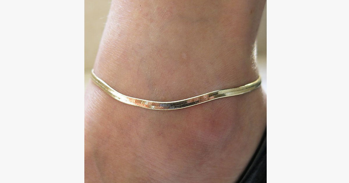 Luxury Anklet - Fashion Wear in a Luxurious Gold Color