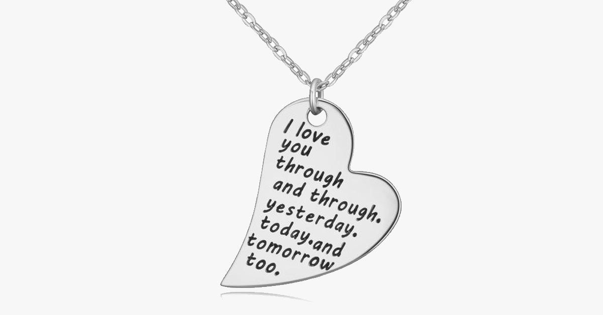 I Love You Through and Through Necklace